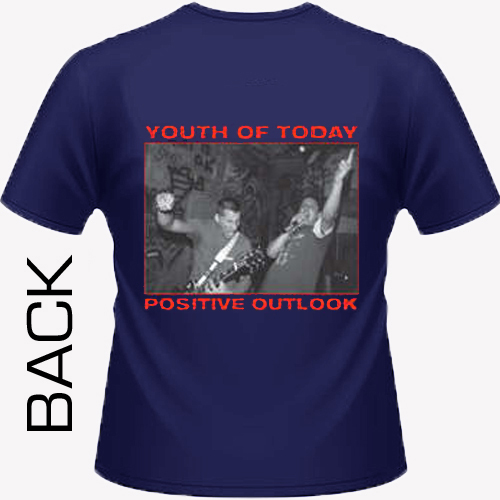 Youth Of Today - Positive Outlook (navy blue) Shirt